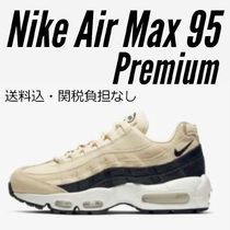 Nike AIR MAX 95 Round Toe Rubber Sole Lace-up Casual Style Street Style