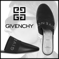 GIVENCHY Open Toe Rubber Sole Casual Style Studded Street Style Plain