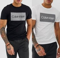 Calvin Klein Crew Neck Blended Fabrics Cotton Crew Neck T-Shirts
