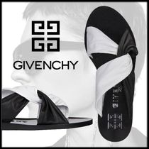 GIVENCHY Open Toe Rubber Sole Casual Style Street Style Bi-color