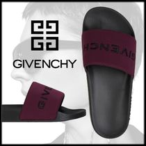 GIVENCHY Open Toe Rubber Sole Casual Style Street Style Plain