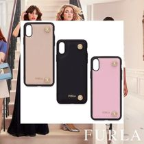 FURLA Studded Leather Smart Phone Cases