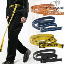 Off-White Street Style Cotton Belts