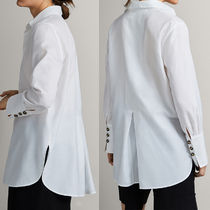 Massimo Dutti Long Sleeves Cotton Office Style Shirts & Blouses