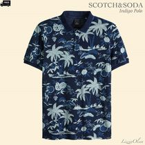 Ron Herman Pullovers Tropical Patterns Henry Neck Cotton Short Sleeves