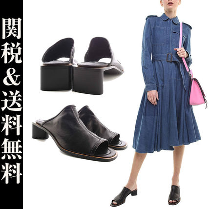 Street Style Plain Leather Home Party Ideas Sandals