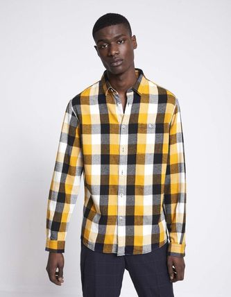 Gingham Other Check Patterns Unisex Street Style