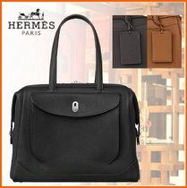 HERMES A4 2WAY Plain Leather Business & Briefcases