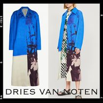 Dries Van Noten Flower Patterns Casual Style Medium Midi Wrap Coats