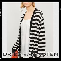 Dries Van Noten Stripes Casual Style Cashmere Long Sleeves Medium Cashmere