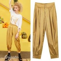 ELF SACK Casual Style Plain Long Cropped & Capris Pants