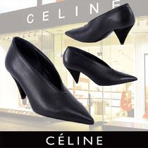 b9ecdad07b9 CELINE Plain Leather Elegant Style Pointed Toe Pumps   Mules