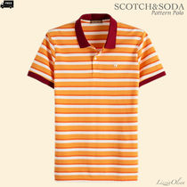Ron Herman Pullovers Stripes Henry Neck Cotton Handmade Henley T-Shirts