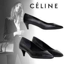 9cc55c5e060 CELINE Leather Python Elegant Style Pointed Toe Pumps   Mules