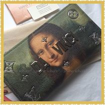Louis Vuitton ZIPPY WALLET Studded Collaboration Leather Long Wallets
