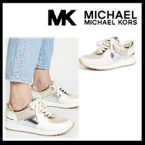 Michael Kors Round Toe Rubber Sole Casual Style Blended Fabrics