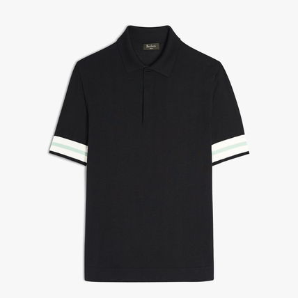 Berluti Polos Pullovers Plain Cotton Short Sleeves Logo Luxury Polos 5