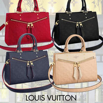 Louis Vuitton Monogram Casual Style Studded 2WAY Leather Shoulder Bags