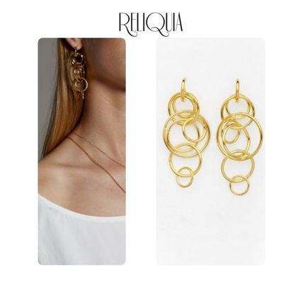 Party Style Brass 18K Gold Co-ord Earrings