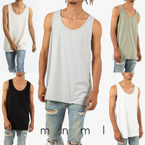 MNML Street Style Plain Cotton Tanks