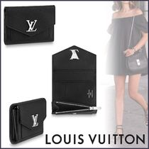Louis Vuitton MY LOCKME  Blended Fabrics Plain Leather Small Wallet Folding Wallets