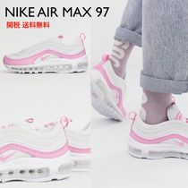 Nike AIR MAX 97 Round Toe Lace-up Casual Style Plain Leather