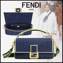FENDI BAGUETTE 3WAY Elegant Style Shoulder Bags