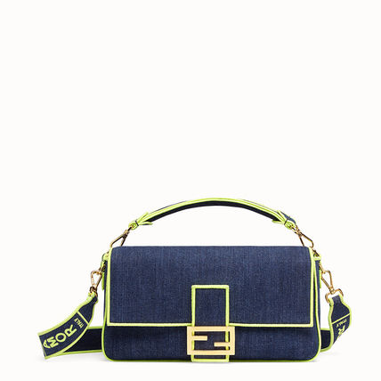 Denim 3WAY Elegant Style Crossbody Logo Shoulder Bags