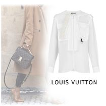 Louis Vuitton 2019-20AW ROUND NECK SHIRT white 34-42 Shirts & Blouses