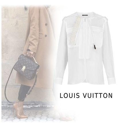 Louis Vuitton Shirts & Blouses 2019-20AW ROUND NECK SHIRT white 34-42 Shirts & Blouses