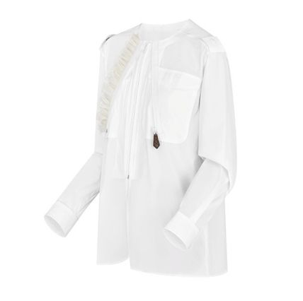 Louis Vuitton Shirts & Blouses 2019-20AW ROUND NECK SHIRT white 34-42 Shirts & Blouses 4