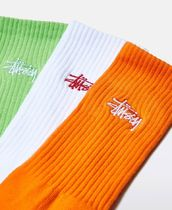STUSSY Stripes Street Style Plain Cotton Undershirts & Socks