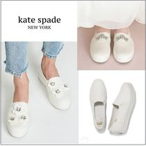 kate spade new york Flower Patterns Round Toe Rubber Sole Casual Style