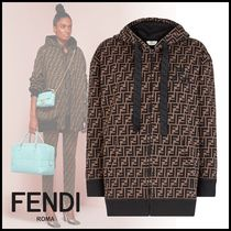 FENDI Monogram Long Sleeves Cotton Medium Oversized