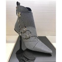 Louis Vuitton Stripes Blended Fabrics Pin Heels Elegant Style