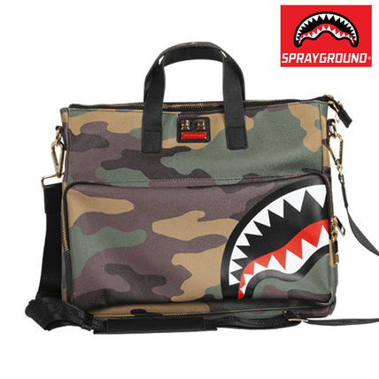 Camouflage Unisex Street Style A4 2WAY