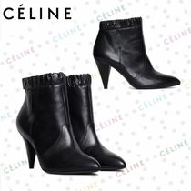 CELINE Casual Style Plain Leather Ankle & Booties Boots