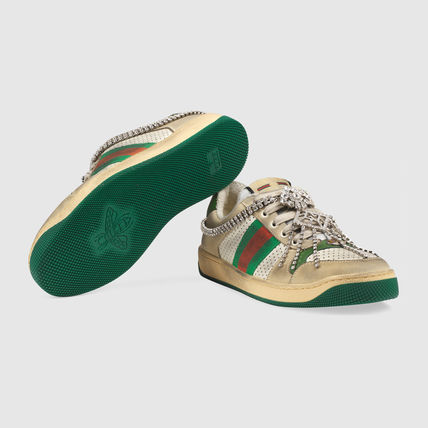 b49efdd56 GUCCI Casual Style With Jewels Low-Top Sneakers (570903 0YI20 9582 ...