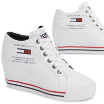 Tommy Hilfiger Wedge Round Toe Casual Style Plain Platform & Wedge Sneakers