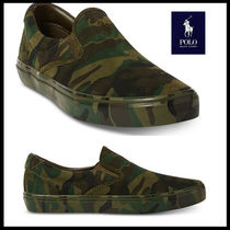 POLO RALPH LAUREN Camouflage Suede Street Style Loafers & Slip-ons