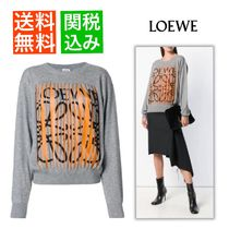 LOEWE Casual Style Cashmere Long Sleeves Medium Cashmere