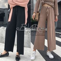 Casual Style Plain Long Wide Leg Pants