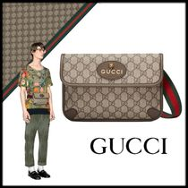 GUCCI Stripes Canvas Street Style Other Animal Patterns Bags
