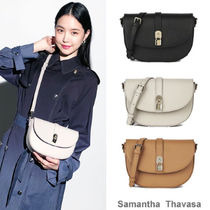 Samantha Thavasa 2WAY Plain Leather Shoulder Bags
