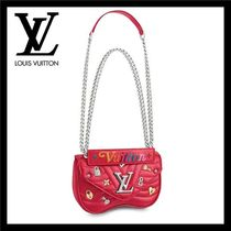 Louis Vuitton Heart Studded 2WAY Chain Leather Shoulder Bags
