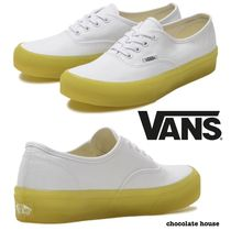 VANS AUTHENTIC Bi-color Plain Low-Top Sneakers
