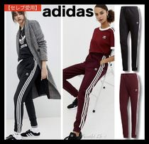 adidas Casual Style Sweat Street Style Plain Skinny Pants