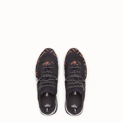 FENDI Low-Top Monogram Round Toe Rubber Sole Casual Style Street Style 5