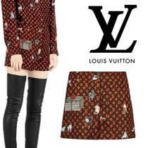 Louis Vuitton Printed Pants Short Monogram Silk Other Animal Patterns