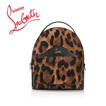 Christian Louboutin Leopard Patterns Casual Style Nylon Backpacks